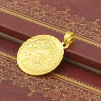 Splendid  14K Yellow Gold Filled  Pendant  Free Ship Horable  Coin Shape Jewelry