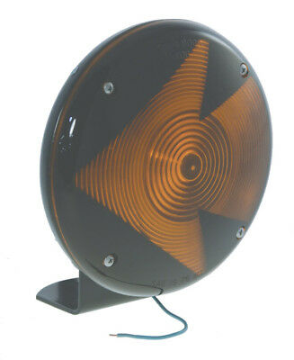 "Grote 84085 Jumbo Single-Face Lamp, 7"", Black w/Amber Arrow"