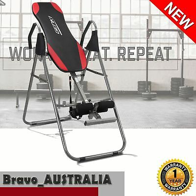 Inversion Table Gravity Foldable Upside Down Back Pain Fitness Home Gym
