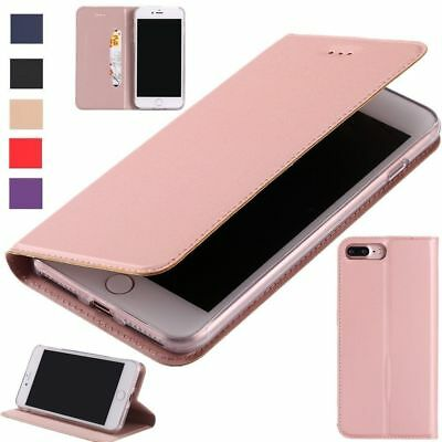 Luxury Magnetic PU Leather Wallet Flip Case Cover For iPhone X 8 7 6 6s Plus 5s