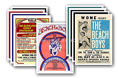 BEACH BOYS  - 10 promotional posters - collectable postcard set # 2