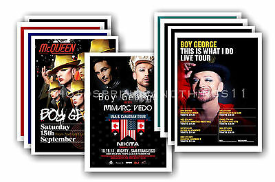 BOY GEORGE  - 10 promotional posters - collectable postcard set # 1
