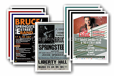 BRUCE SPRINGSTEEN  - 10 promotional posters - collectable postcard set # 2