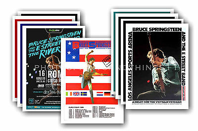 BRUCE SPRINGSTEEN  - 10 promotional posters - collectable postcard set # 3