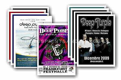DEEP PURPLE  - 10 promotional posters - collectable postcard set # 1