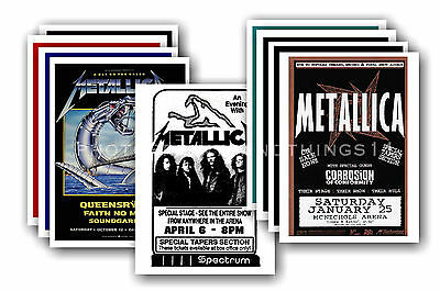 METALLICA  - 10 promotional posters - collectable postcard set # 1