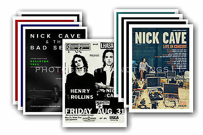 NICK CAVE  - 10 promotional posters - collectable postcard set # 1