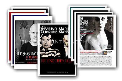 SMASHING PUMPKINS  - 10 promotional posters - collectable postcard set # 1