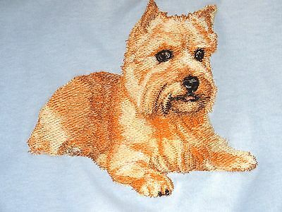 Embroidered Ladies Short-Sleeved T-Shirt - Norwich Terrier BT3985