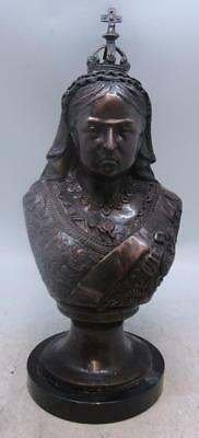 Large Bronze Bust - Queen Victoria - British Monarch - Royal - Solid Marble Base