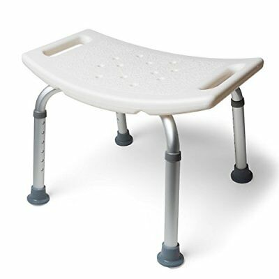 MedMobile Aluminum Bath Tub Shower Chair with Handles and Drainage Holes, New