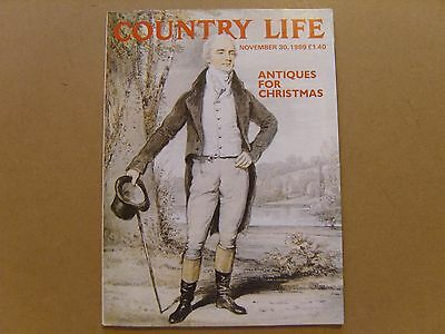 COUNTRY LIFE MAGAZINE - 30th NOVEMBER 1989 - ANTIQUES FOR CHRISTMAS