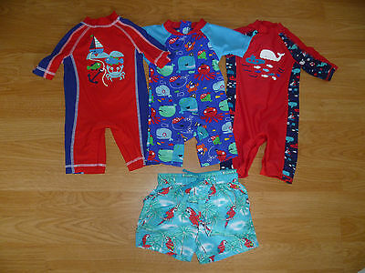 Baby Boys Sun Protection Suits X3 MOTHERCARE X2 BABIESRUS & Swim Shorts 3-6 Mth