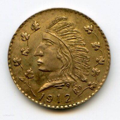 1912 British Columbia Fractional 1$ Gold / RG-380 R6