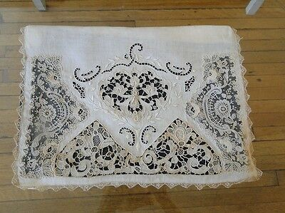 Antique Lace- Lovely Brussels Point De Gaze Lace,needlelace Pillowcase