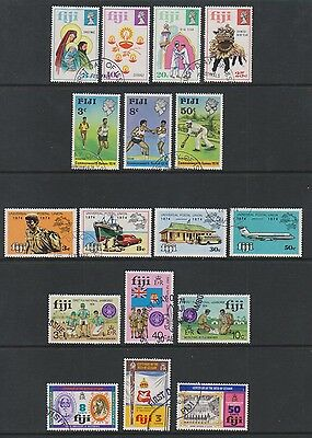 Fiji - 1973/4, Collection of 17 Issues - F/U