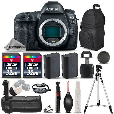 Canon EOS 5D Mark IV GPS/WiFi DSLR Camera + Battery Grip + EXT BATT - 64GB KIT