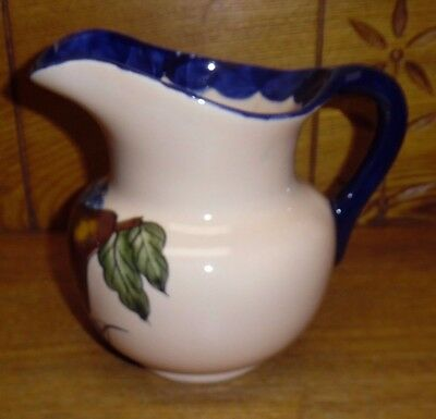 """Contemporary Mexican Pottery Pitcher - Fruit - 6 1/2"""""""