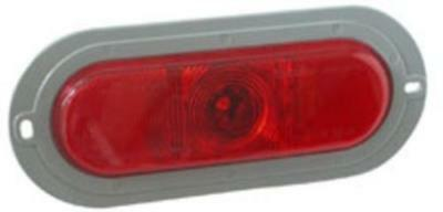 Truck-Lite 81105 1-LED Stop/Turn/Tail Lamp w/Flange, Red