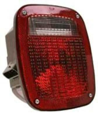 Truck-Lite 81143 LED Universal Multi-Function Lamp, Red/Clear