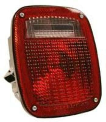 Truck-Lite 81150 Curbside Multi-Function Lamp with License, Red/Clear