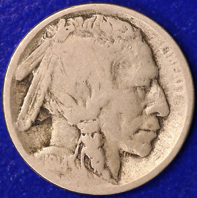 1914 -S Buffalo Nickel 5c Cent Almost Good AG Condition ( SP )