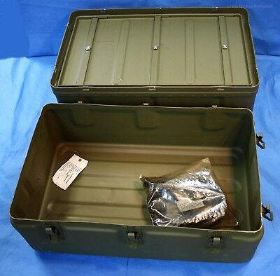 Military Medical Instrument Supply Aluminum Field Chest #6 w/ New Divider Gasket