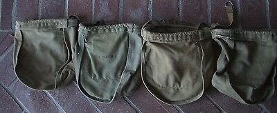 4 Small VINTAGE BELL SYSTEMS TELEPHONE LINEMAN CANVAS TOOL BAG