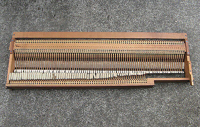 RARE 1850s BIRDCAGE PIANO ACTION 85 KEY L. Isermann Carl Ronisch ANTIQUE GERMANY