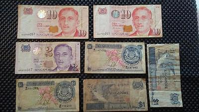 26 Singapore Dollars $26 Including Two Orchard $1 Notes  EXCHANGEABLE