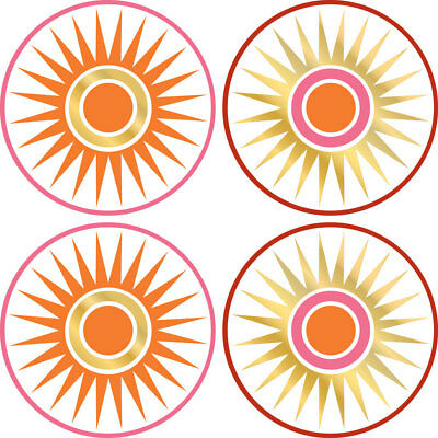 Brewster Home Fashions 12505257 Geo Circles Dots Gold Sun Wall Accent Stickers