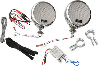"""MH Motorcycle Rumble Road Ultra Amplified Stereo Chrome System For 1"""" Bars"""