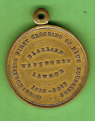 #d309. 1913 Medal - Centenary Of First Crossing Of Blue Mountains 1813