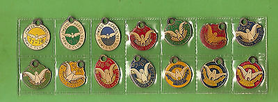 #d309. 14 Consecutive Tweed  Heads  Bowling Club  Member  Badges 1977/8 On #861
