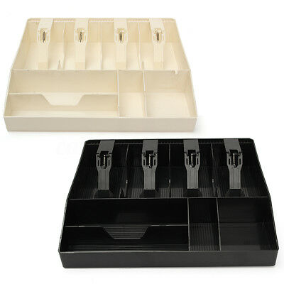 Money Cash Register Till Insert Tray Replacement Coin Cashier Drawer Storage Box
