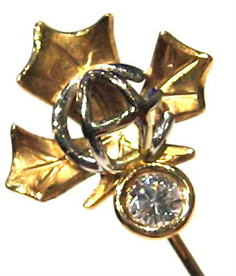 890.-€  Lupenreine Brillant-Nadel, Canada Maple-Leaf Ahorn 750 Gold, Handarbeit