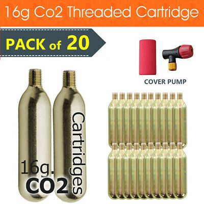 20x Bike Cycling Bicycle Co2 Threaded Cartridge Gas Tank Canister Cylinder 16g