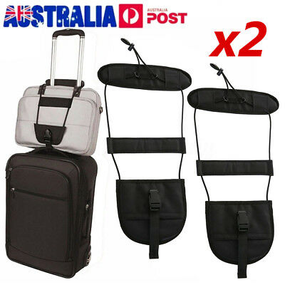 2X Black Bag Bungee Strap Luggage Backpack Carrier Travel Helper Unisex One Size