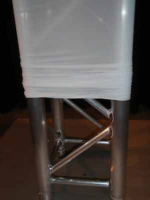 White lycra fabric truss cover sock scrim suit box or tri truss SOLD PER METER
