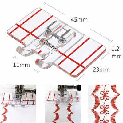 Useful Plastic Parallel Stitch Foot Presser For Brother Domestic Sewing Machine