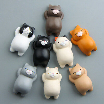 One Cute Cartoon Animal Cat Fridge Magnet Sticker Refrigerator Home Decoration