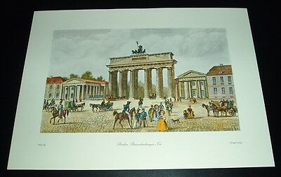 Berlin - Brandenburger Tor  / Stadtbild nach altem, coloriertem Stich