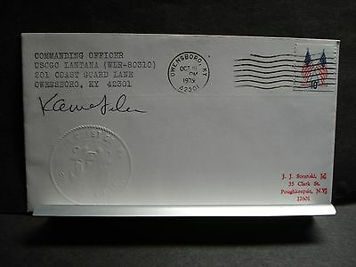 USCGC LANTANA WLR-80310 Naval Cover 1975 SIGNED EMBOSSED Cachet OWENSBORO, KY