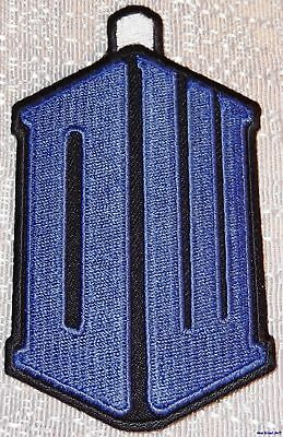 """Doctor Who DW Tardis Logo 2 1//8/"""" Wide Embroidered Patch Matt Smith"""