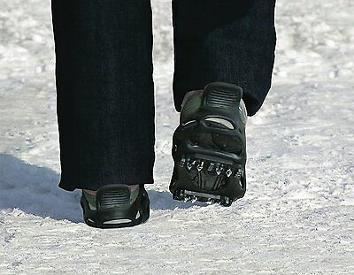 Small Ice Snow Shoes With Studded Grips Grippers Spikes Overshoe Boots Crampons