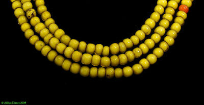 Yellow Whitehearts Venetian Trade Beads Africa SALE WAS $15