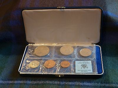 New Zealand Official 1968 Specimen Proof Coin Collection Set Cased