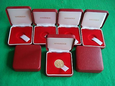 Full Sovereign Coin Case Box Plush Padded Like Royal Mint With Tab Freepost