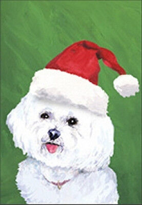 Large Indoor/Outdoor Christmas Flag BVV - Bichon Frise 27037