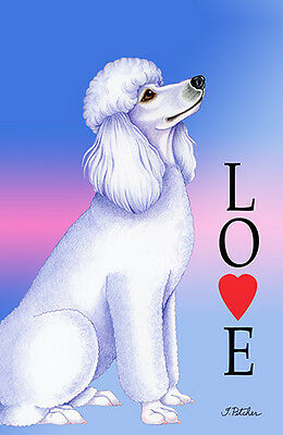 Large Indoor/Outdoor Love (TP) Flag - White Poodle 60004